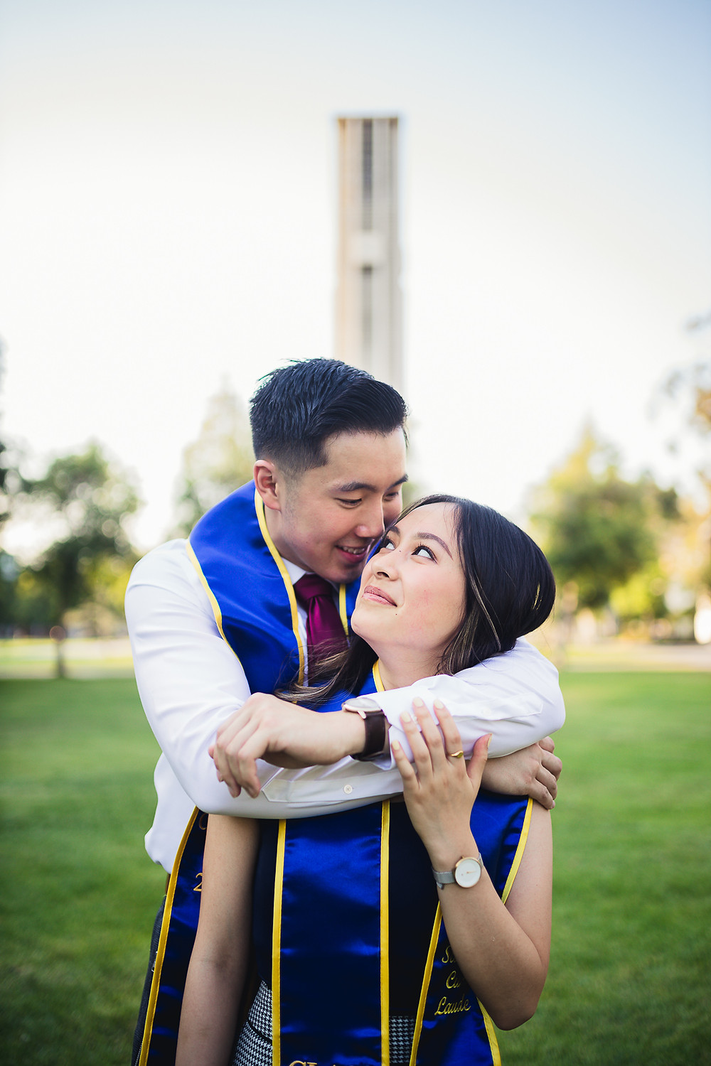 UCR Graduation Photos Bell Tower | Marcus and Cindy 13