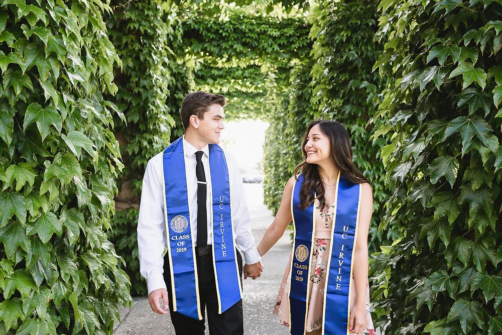 UCI Couple Graduation Photo at MSTB