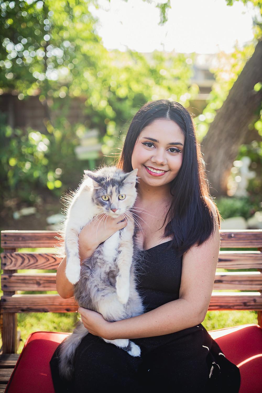 Beaumont Senior Photos w/ cat 2