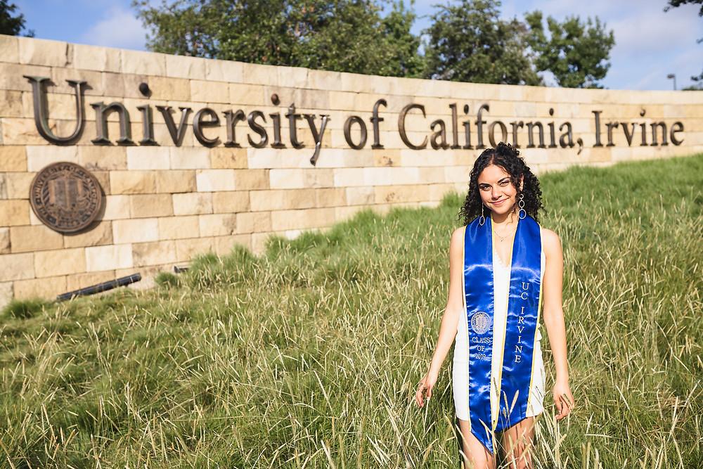 UCI Sign Graduation Photos