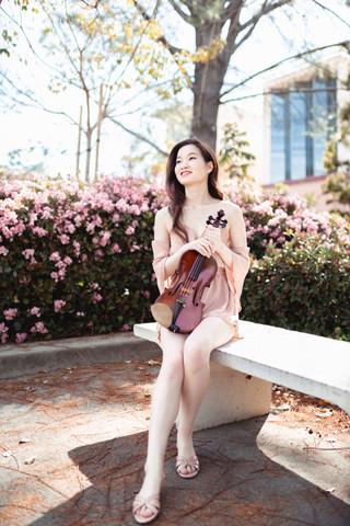 UCI Violinist Outside Ayala Library 2.jp