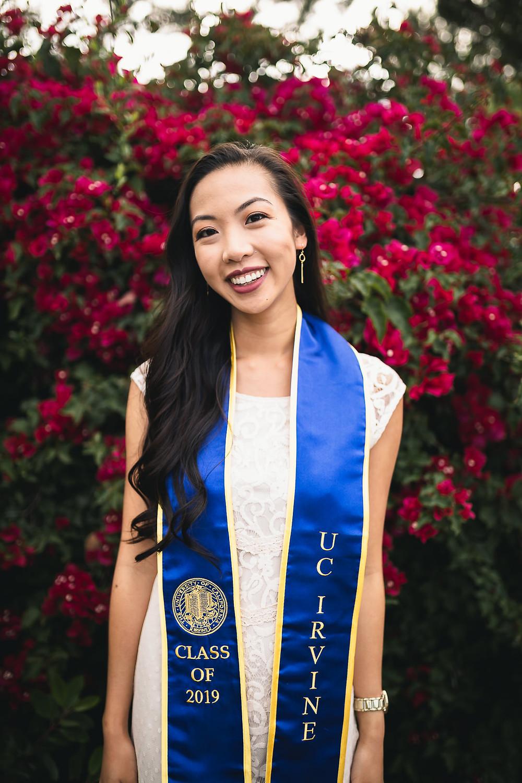 UCI Graduation Photos | Langson Library | Lexie