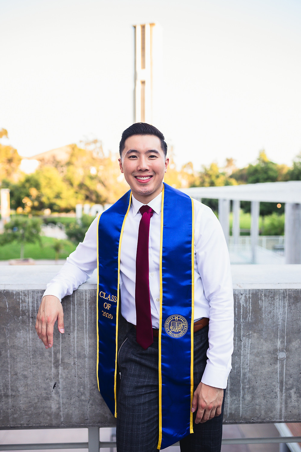 UCR Graduation Photos Bell Tower | Marcus and Cindy 17