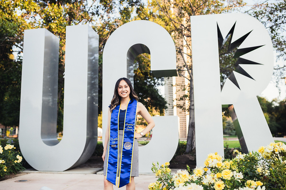 UCR Graduation Photos Bell Tower | Marcus and Cindy 21