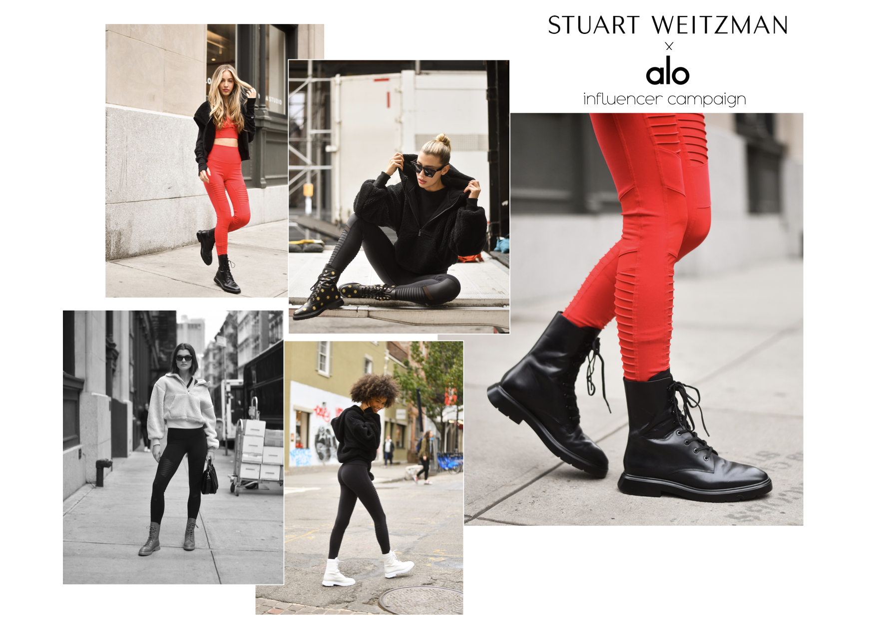 Stuart Weitzman Alo Yoga influencer collaboration launch