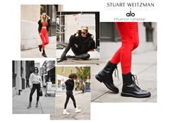 Stuart Weitzman Alo Yoga influencer collaboration launch