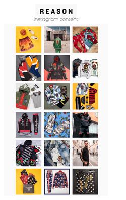 Reason Clothing social media imagery