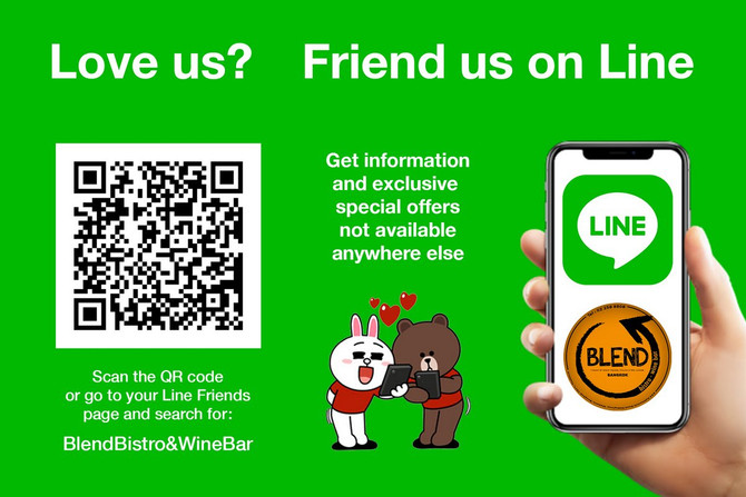 Love Us? Friend Us on Line!