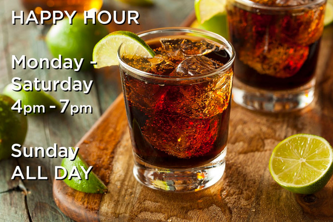 All Day Happy Hour on Sunday!