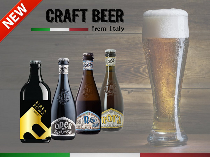 New Craft Beers from Italy...