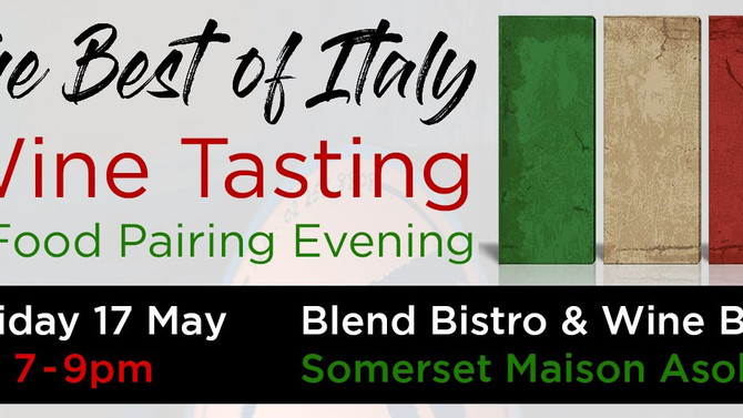 'The Best of Italy' Wine Tasting & Food Pairing Evening