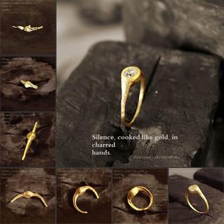 24K Gold Diamond Ring