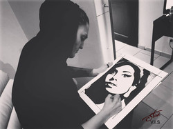 Amy Winehouse portrait work