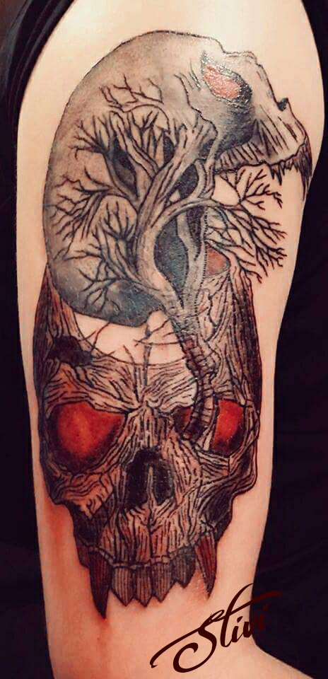 Tree of life skulling Tattoo