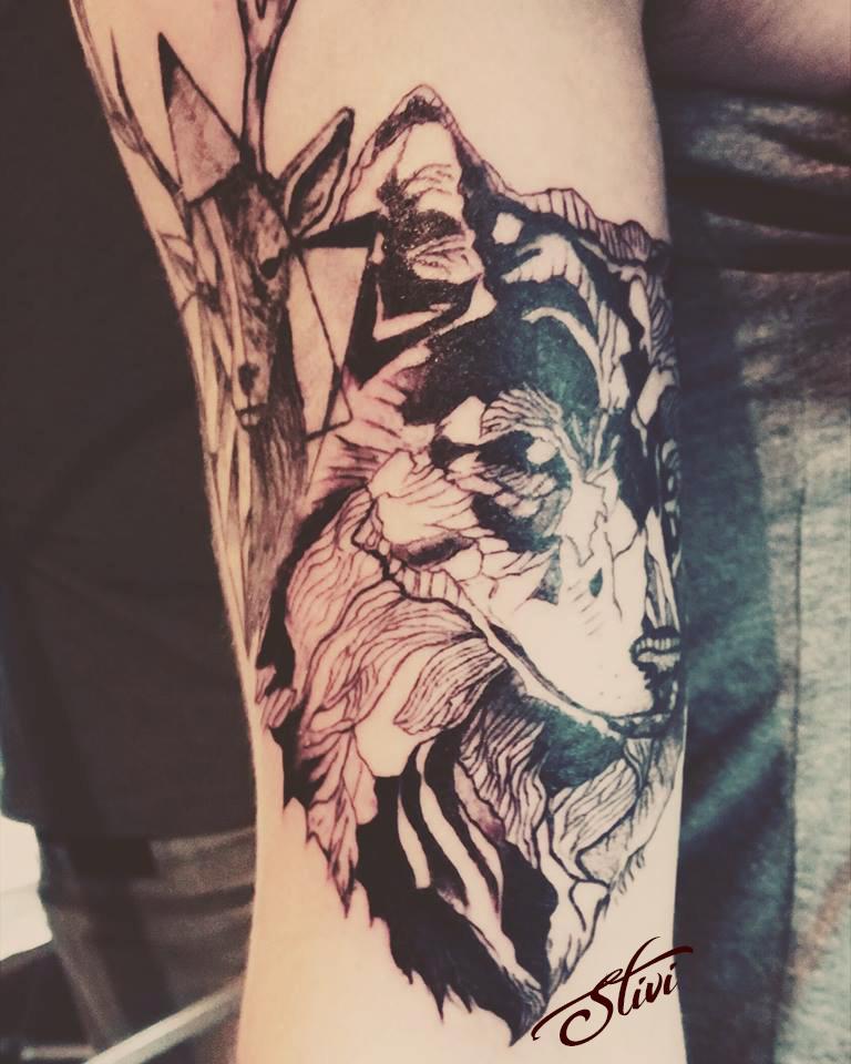 Deer & Wolf 2
