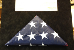 Finished stitch mounted flag