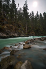 Flowing Turquoise River Long Exposure Photography