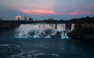 Sunset in Niagara Falls