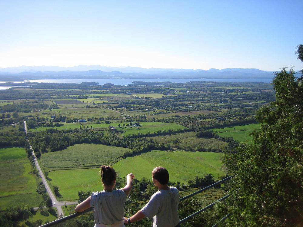 Mt. Philo State Park close to Burlington, Vermont