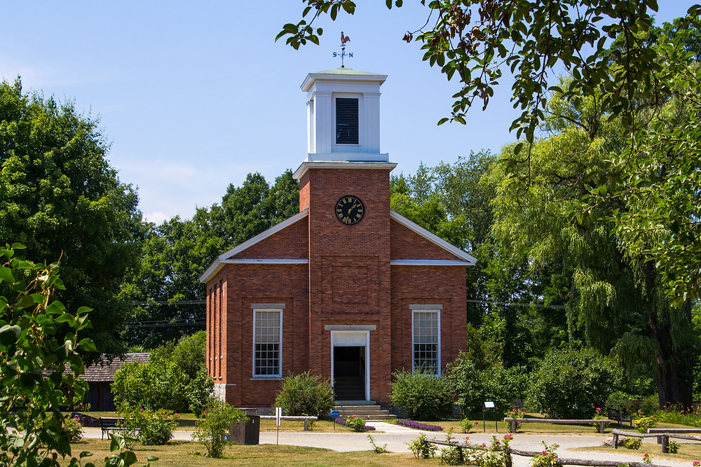 Pristine New England Church at Shelburne Farms, Shelburne, Burlington, Vermont