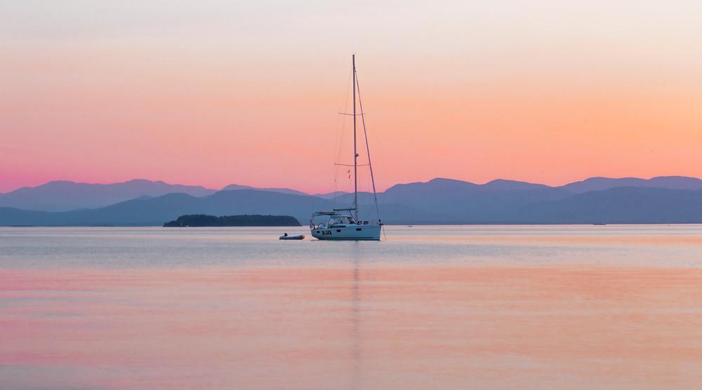 Champlain Lake, Burlington Shore, Vermont