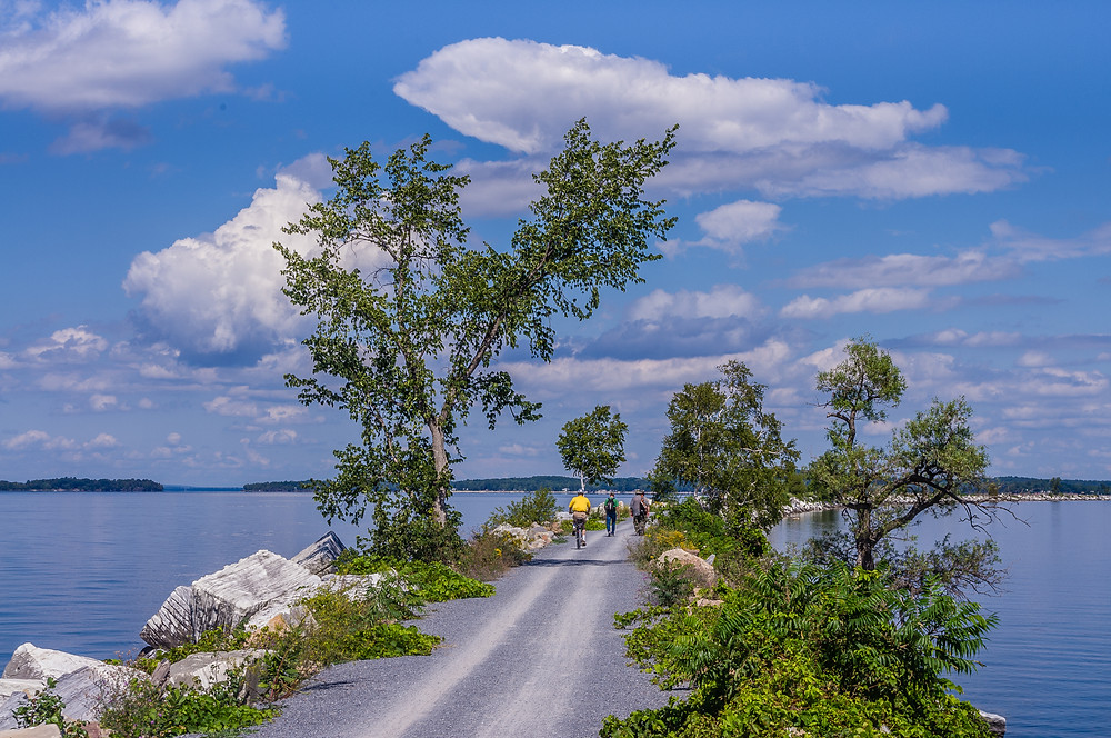 Island Line Bike Trail Crossing Lake Champlain, Burlington, Vermont
