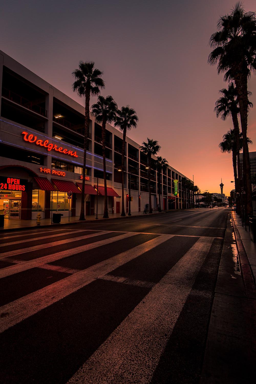 Vertical Instagram Photo. Las Vegas Sunset.