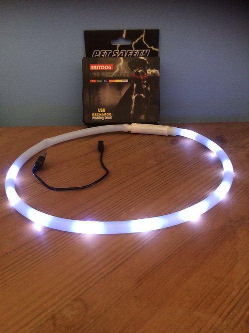 LED Bright Light USB rechargable dog collar