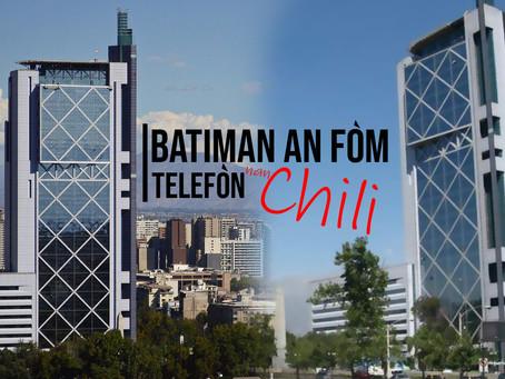 Batiman an fòm telefòn, santiago nan peyi chili.