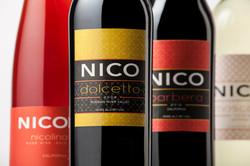 NICO WINES brand + label design