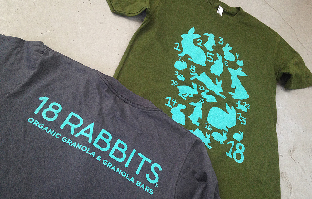 18 RABBITS tee design
