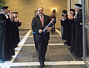 Philip receiving his PhD in Synchronicity & Leadership