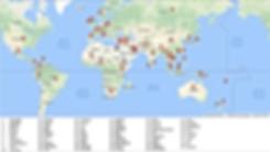 Map of where Philip has worked aroun th World
