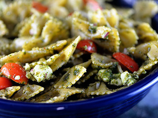 Bowtie Pasta with Basil Pesto