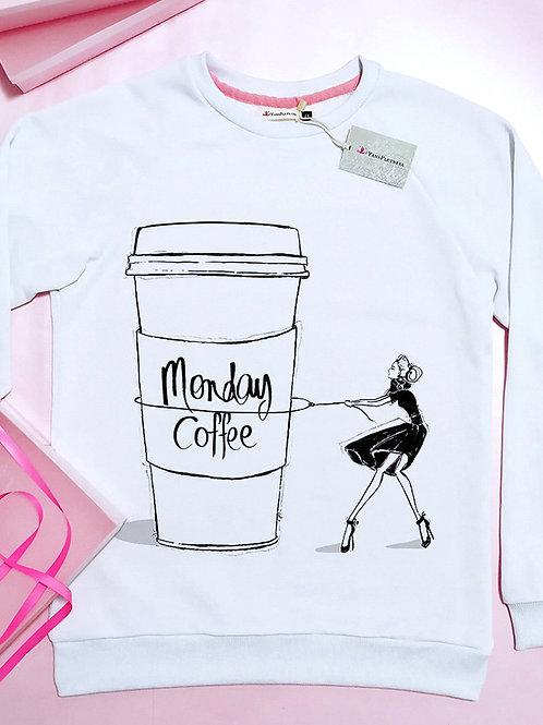 Свитшот Monday coffe