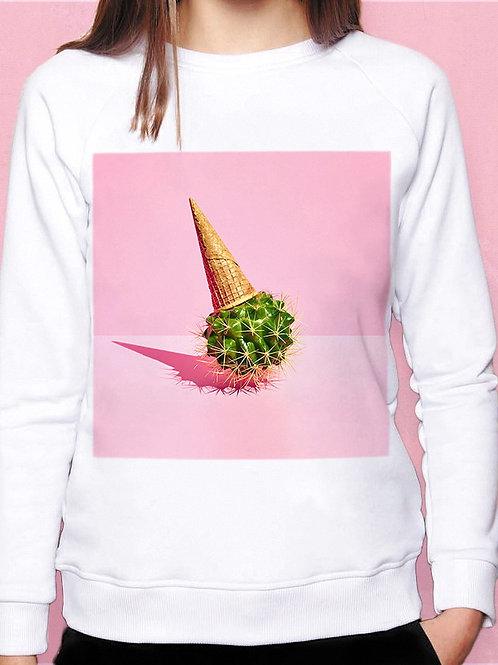Свитшот Мороженное кактус