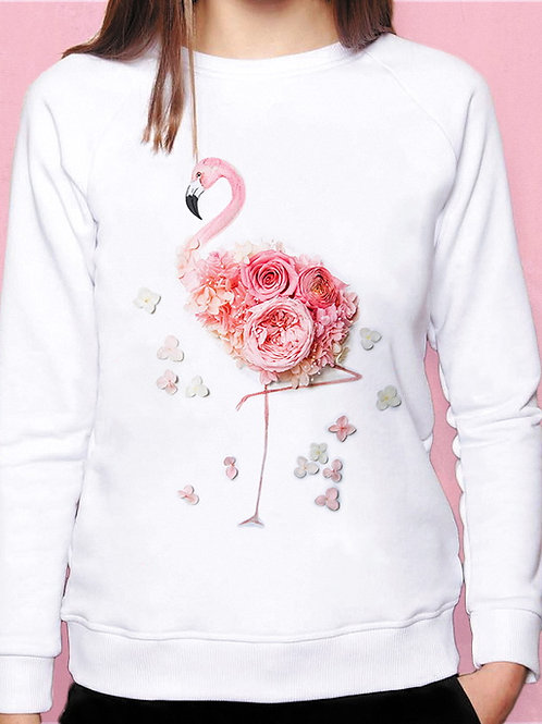 Свитшот Цветочный фламинго