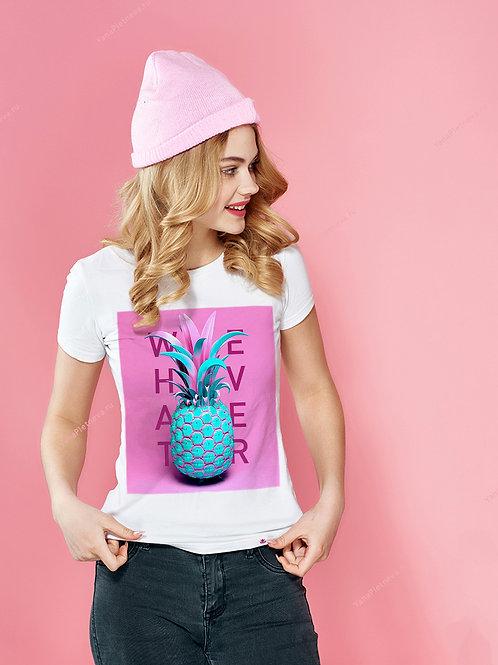 Футболка женская Бирюзовый ананас