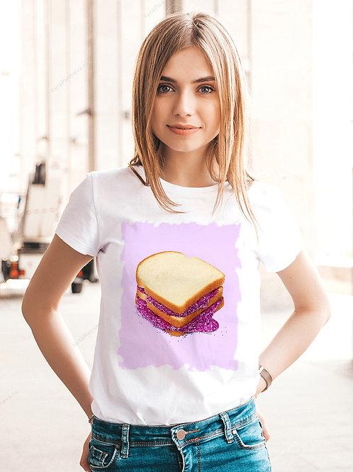 Футболка женская с принтом Сэндвич