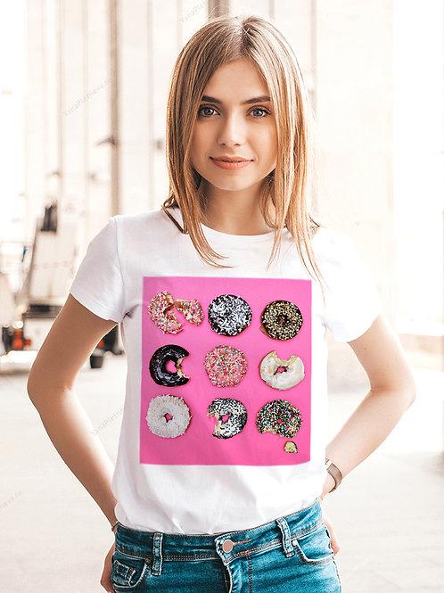 Футболка женская Сладкие пончики