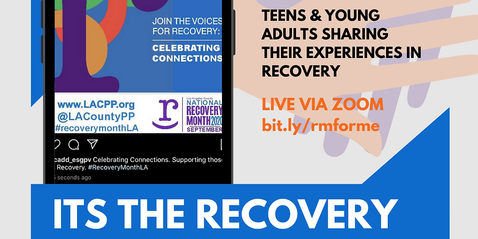 """""""It's the Recovery for Me"""""""