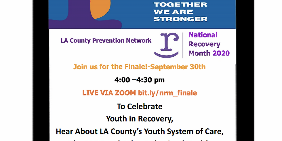 Recovery Month Finale: Overview and Resources for Youth Recovery