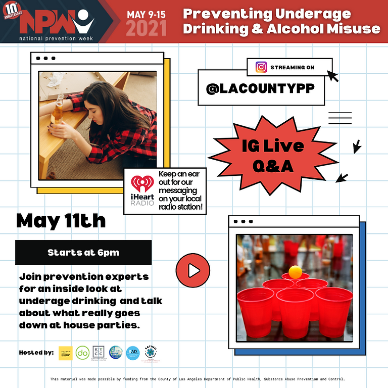 NPW: Preventing Underage Drinking & Alcohol Misuse Instagram Live Q&A