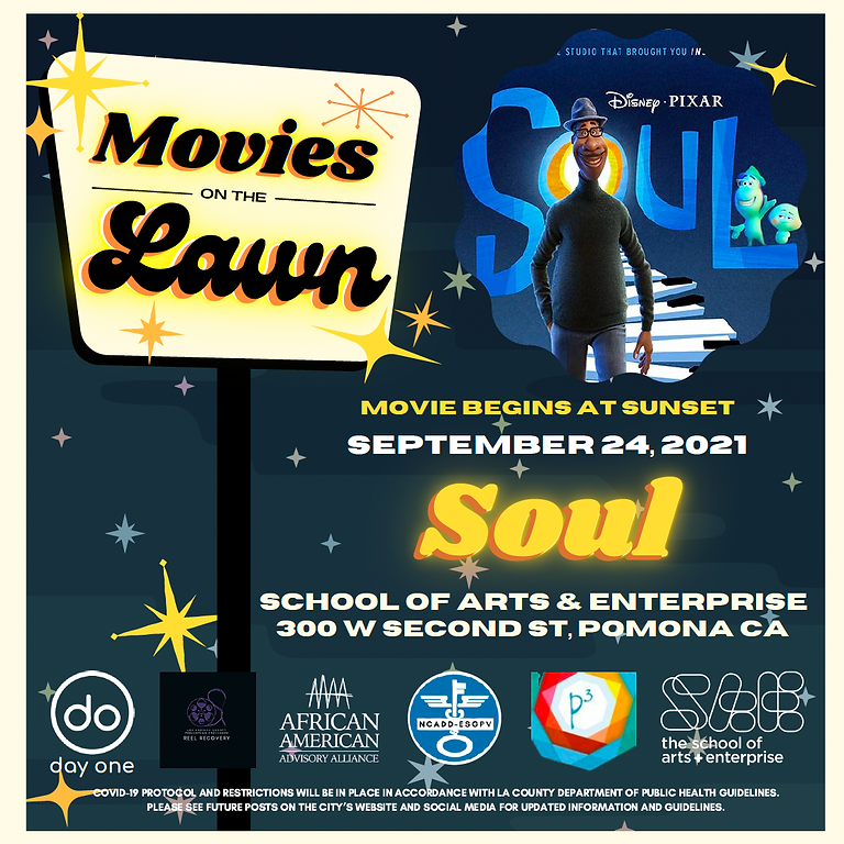 Reel Recovery - Movies on the Lawn Present's Disney's Soul