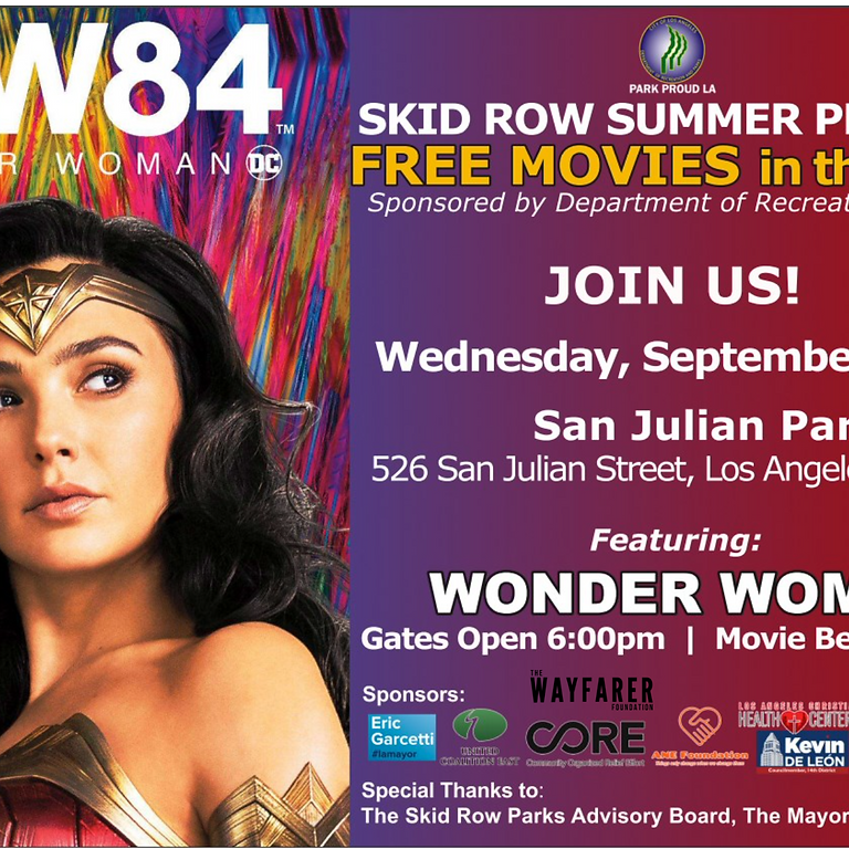 Reel Recovery-  Skid Row Summer Program Free movies in the Park