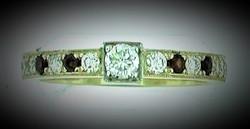 Diamond and Garnet Milgrained Ring.jpg