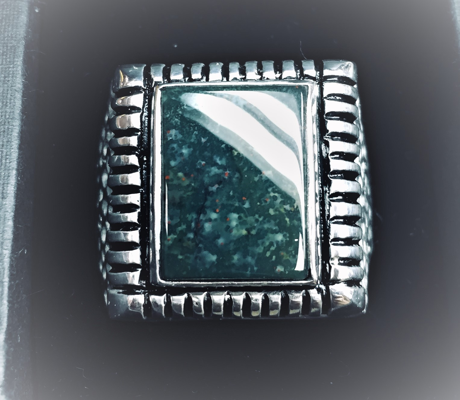 Silver Mens square bezel ring.JPG