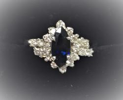 Marquise Sapphire and Diamond Fashion Ri