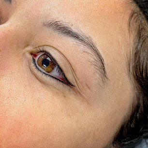 Upper and lower eyeliner with wing