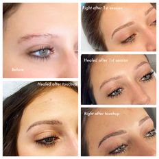 Fully healed brows 6-8 weeks after touchup